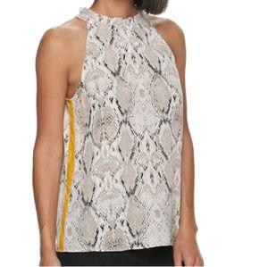 Sleveless snakeskin print shirt